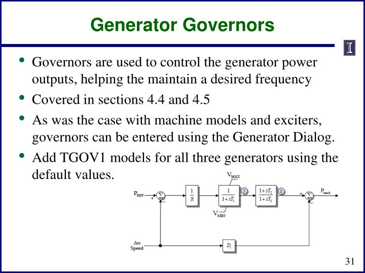 Generator Governors