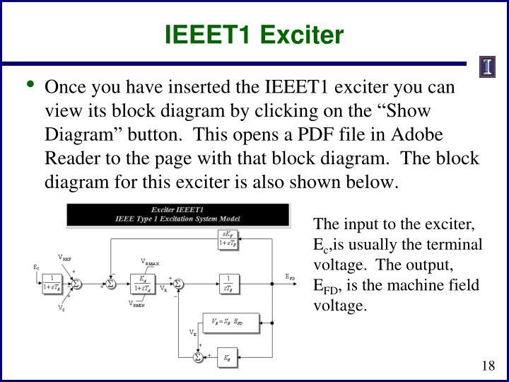 IEEET1 Exciter