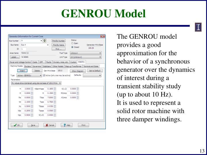 GENROU Model