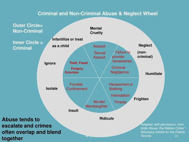 Criminal and Non-Criminal Abuse & Neglect Wheel