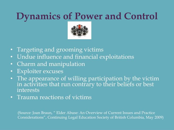 Dynamics of Power and Control