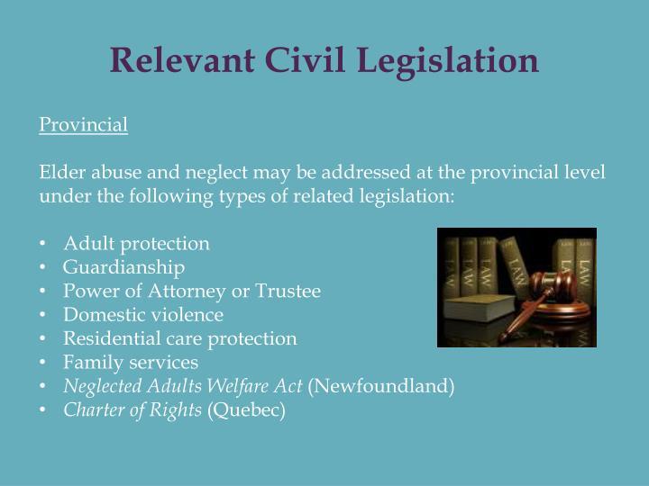 Relevant Civil Legislation