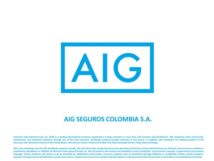 AIG SEGUROS COLOMBIA S.A.
