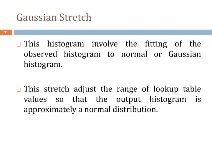 Gaussian Stretch