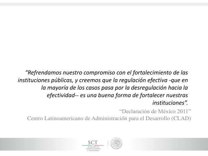 """""""Declaración de México 2011"""""""