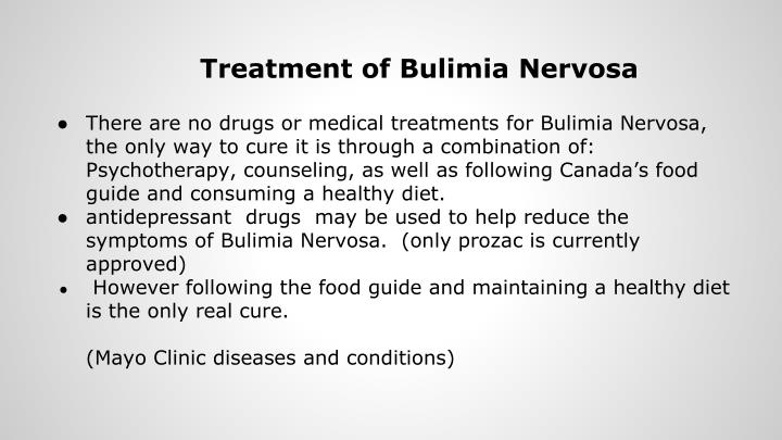 the history symptoms and treatment of bulimia nervosa an eating disorder