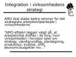 integration i virksomhedens strategi