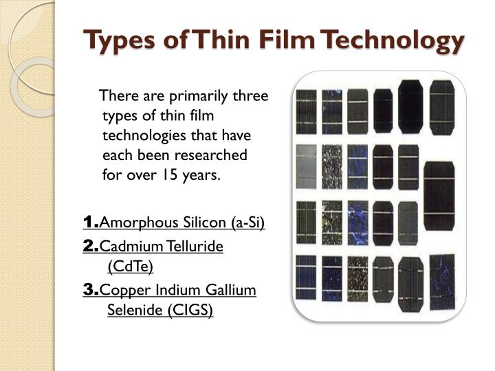 Ppt A Presentation On Thin Film Technology Powerpoint
