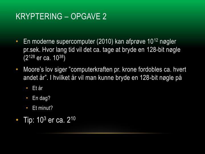 Kryptering – Opgave 2