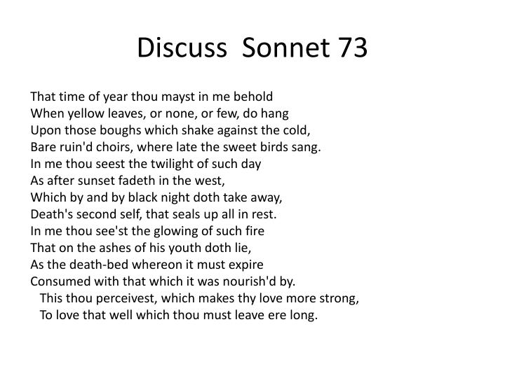 Discuss  Sonnet 73