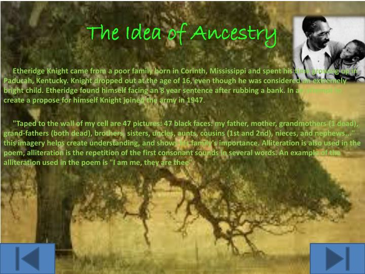 The Idea of Ancestry