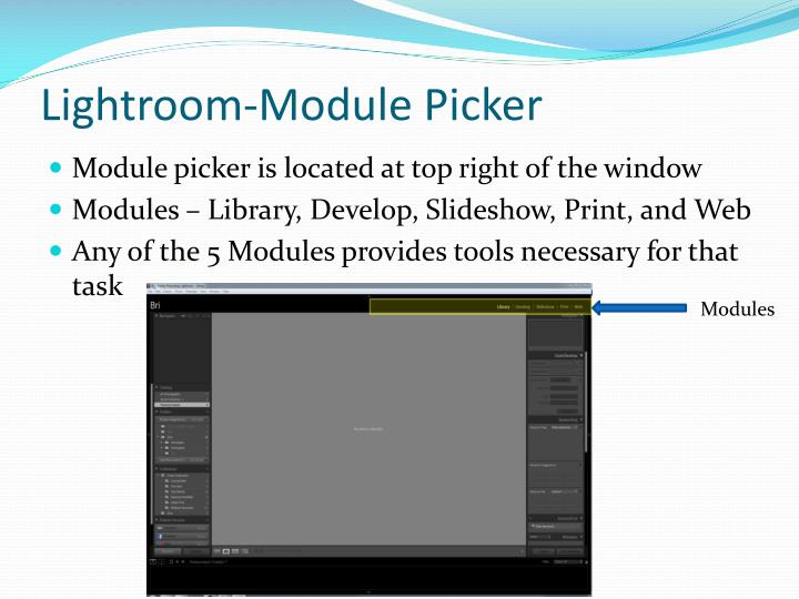 Lightroom-Module Picker