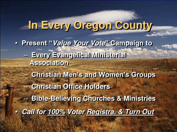 In Every Oregon County