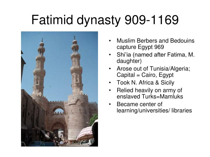 Fatimid dynasty 909-1169