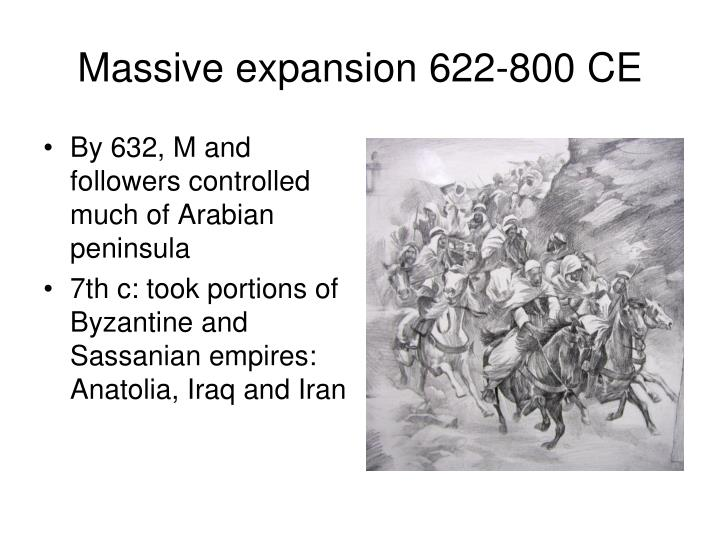 Massive expansion 622-800 CE