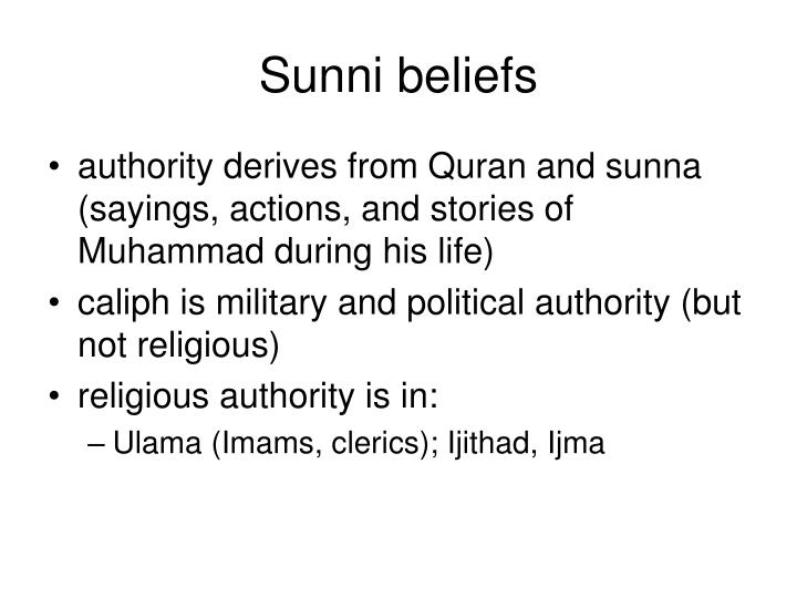 Sunni beliefs