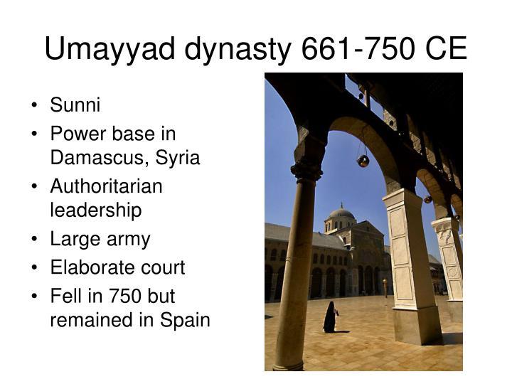 Umayyad dynasty 661-750 CE