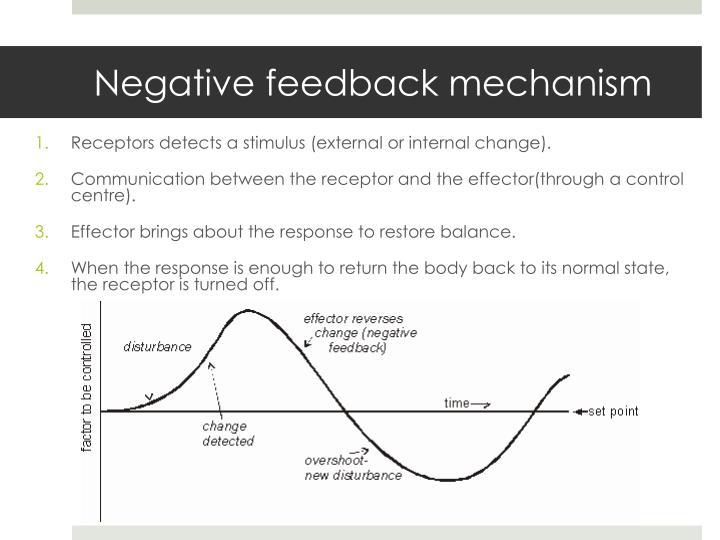 Negative feedback mechanism