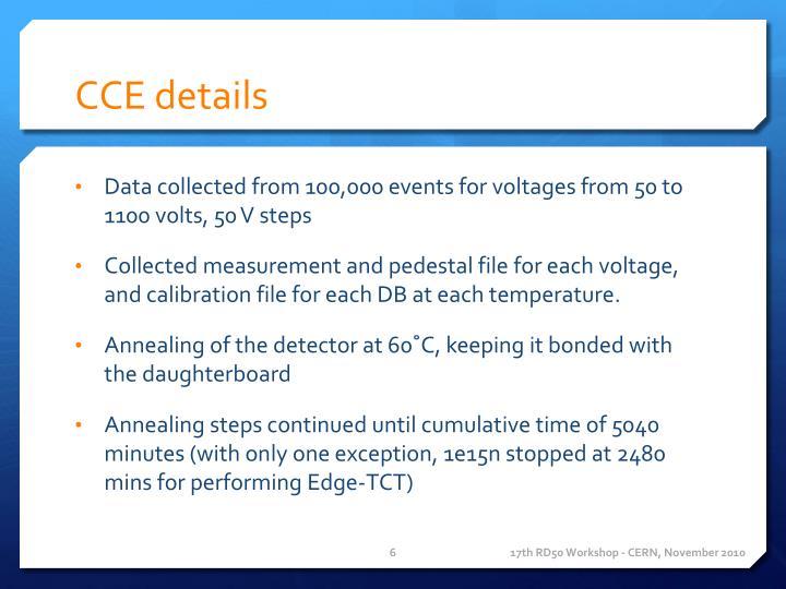 CCE details