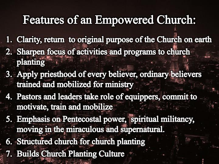 Features of an Empowered