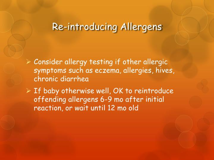 Re-introducing Allergens