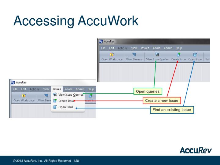 Accessing AccuWork