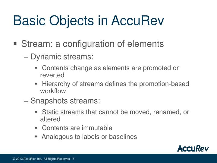 Basic Objects in AccuRev