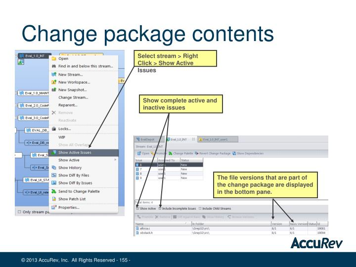 Change package contents