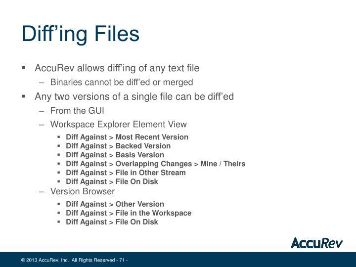 Diff'ing Files