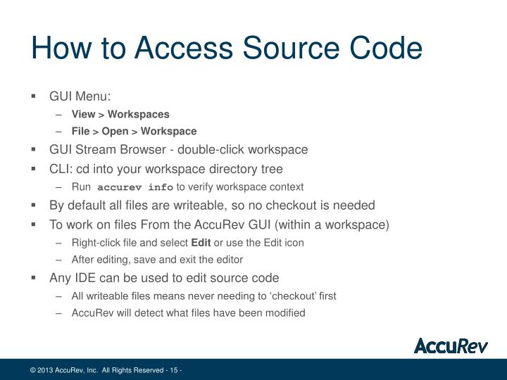 How to Access Source Code
