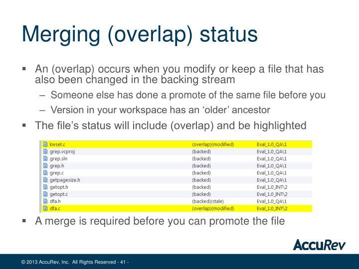 Merging (overlap) status