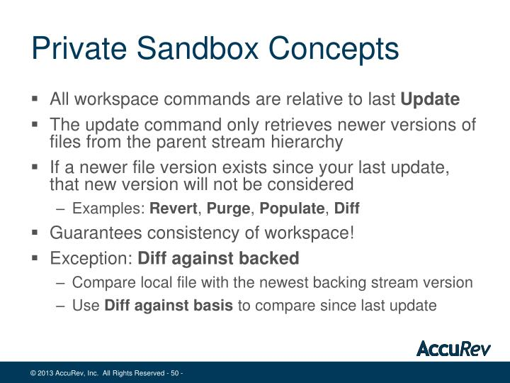 Private Sandbox Concepts