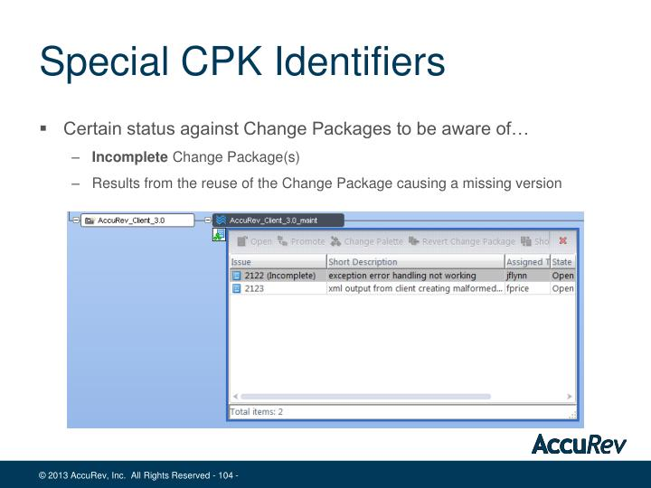 Special CPK Identifiers