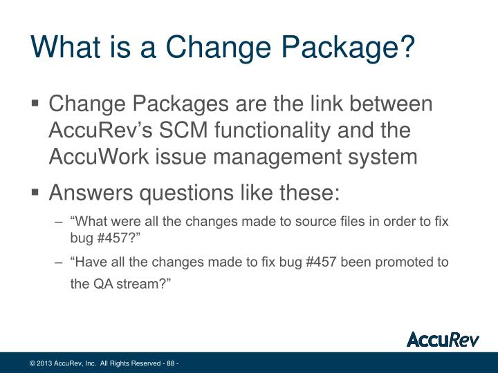 What is a Change Package?