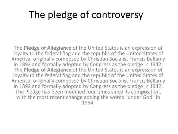 The pledge of controversy