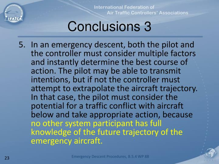 Conclusions 3