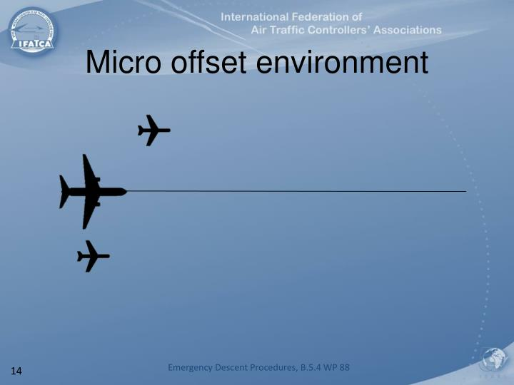 Micro offset environment