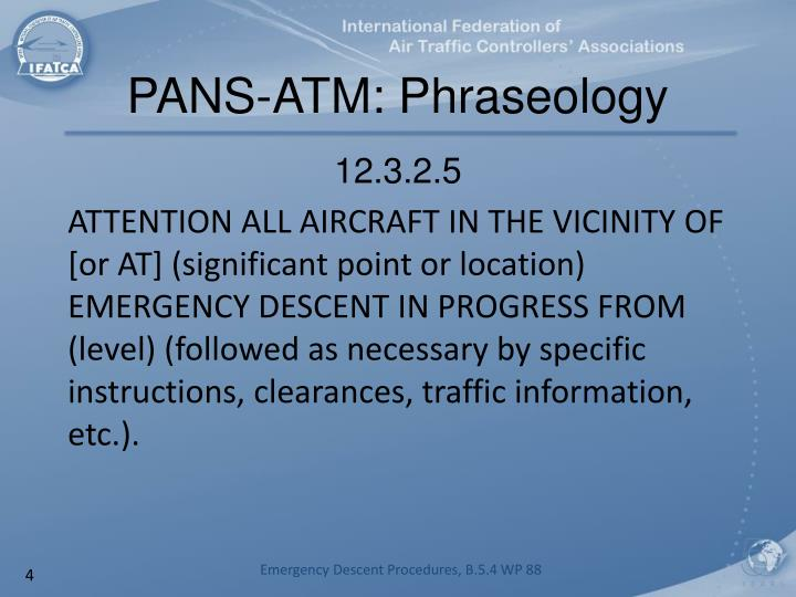PANS-ATM: Phraseology