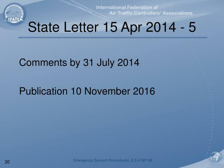 State Letter 15 Apr 2014 - 5