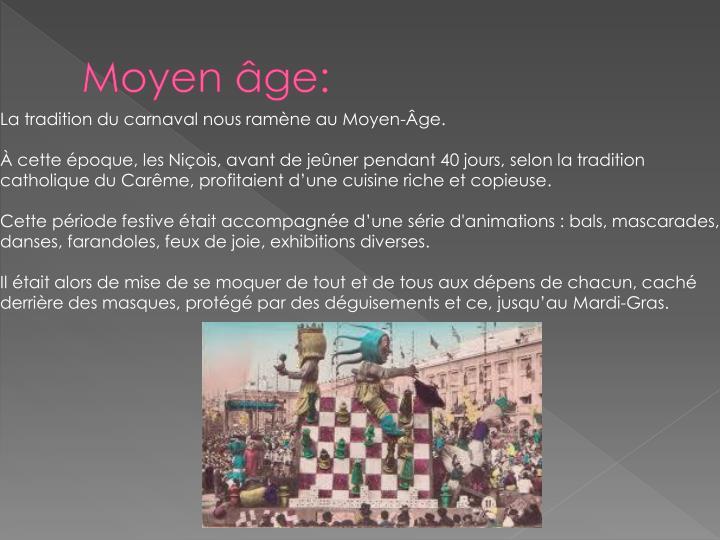 Moyen âge: