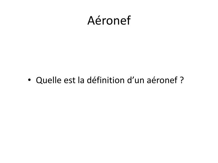 Aéronef