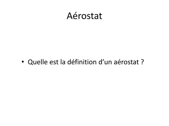 Aérostat
