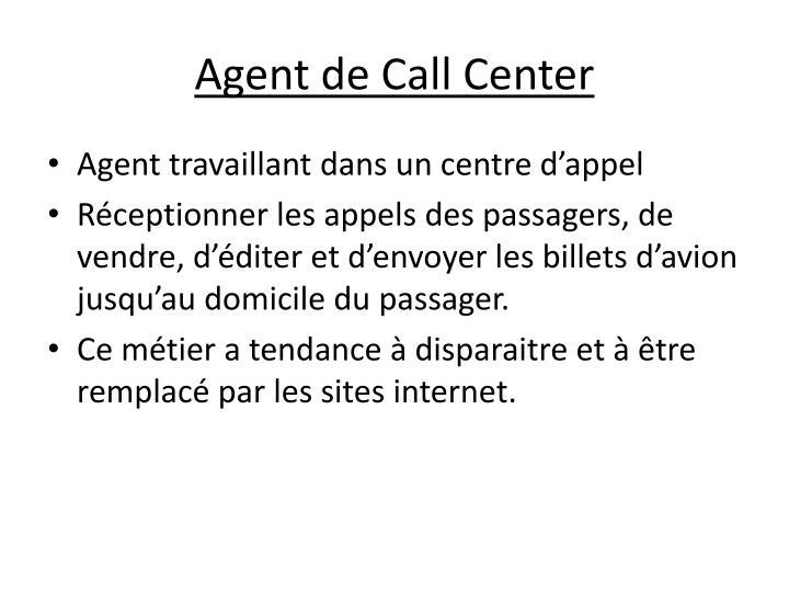 Agent de Call Center