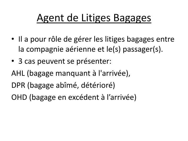 Agent de Litiges Bagages