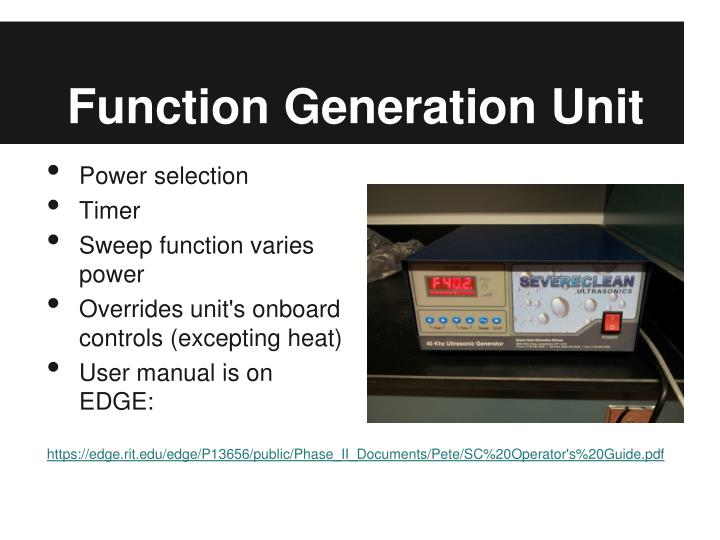 Function Generation Unit