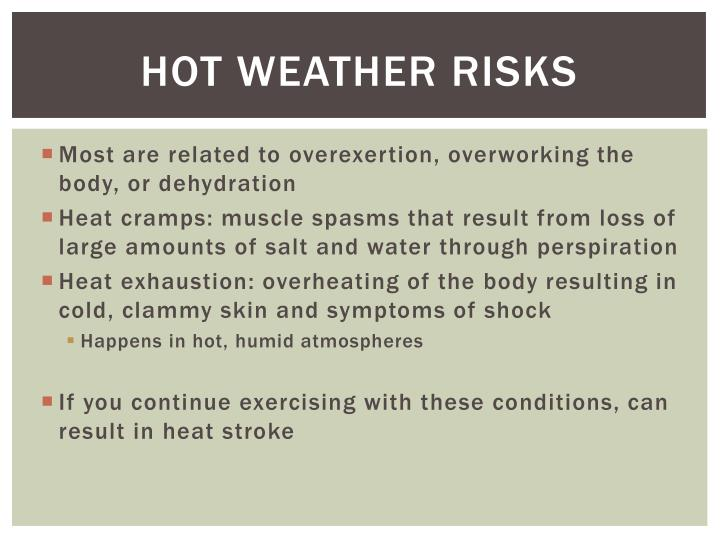 Hot Weather risks