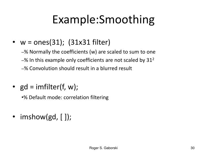 Example:Smoothing