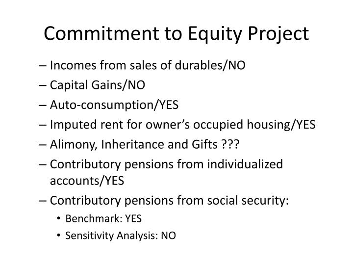 Commitment to Equity Project