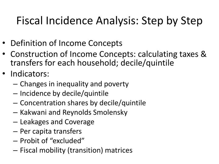 Fiscal Incidence Analysis: Step by Step
