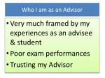 who i am as an advisor